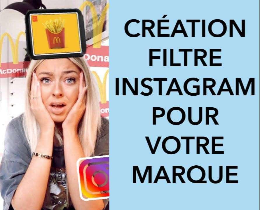 Création filtre instagram marque et produits